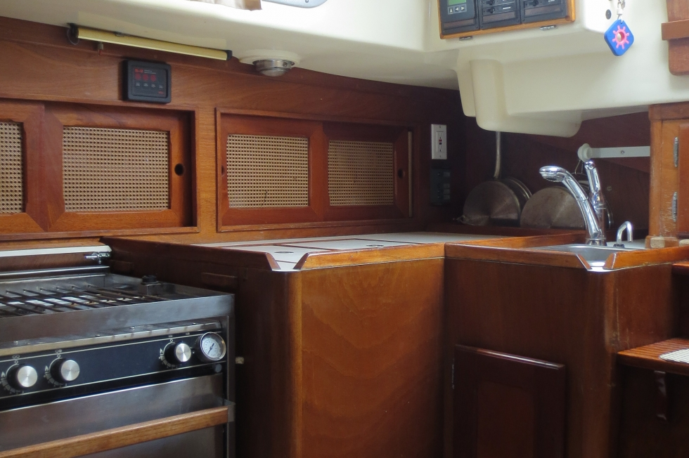 Starboard Settee and Stove